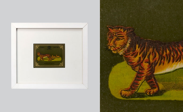 Textile Label - Mounted | Tiger