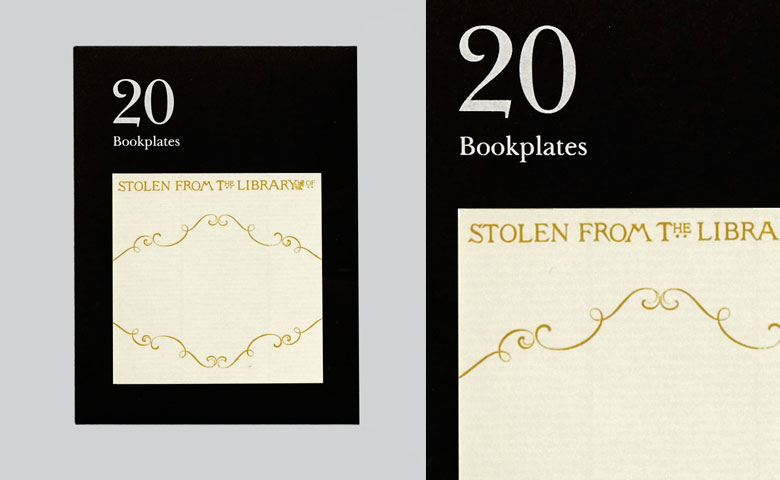 Literarian Book Plates | Stolen From The Library